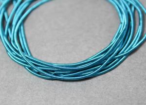 Канитель мягкая гладкая 1мм матовая цвет Синяя Эмаль