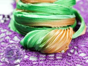 Шелковая Лента Шибори (Shibori silk ribbon) L204