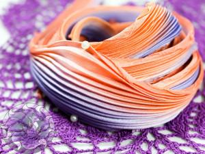 Шелковая Лента Шибори (Shibori silk ribbon) L205