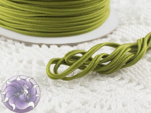 Сутажный шнур Япония матовый 3мм цвет Оливковый