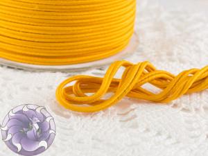 Сутажный шнур Япония матовый 3мм цвет Желтый