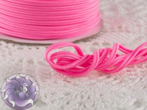 Сутажный шнур Япония матовый 3мм цвет Розовый