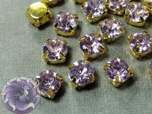 Шатон 6мм цвет 117 Violet оправа золото