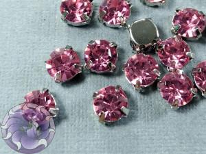 Шатон 6мм цвет 111 Rose оправа серебро