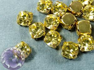 Шатон 6мм цвет 112 Jonquil оправа золото