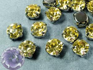 Шатон 6мм цвет 112 Jonquil оправа серебро