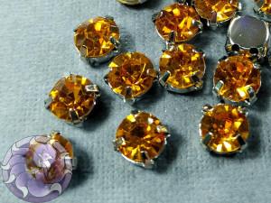 Шатон 6мм цвет 113 Topaz оправа золото