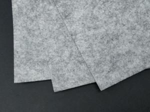 Фетр жесткий 1,2мм А4 20х30мм Светло серый