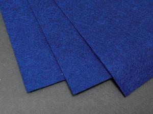 Фетр жесткий 1,2мм А4 20х30мм Синий