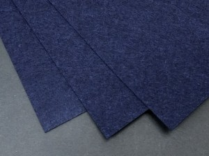 Фетр жесткий 1,2мм А4 20х30мм Темно синий