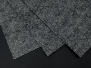 Фетр жесткий 1,2мм А4 20х30мм Серый