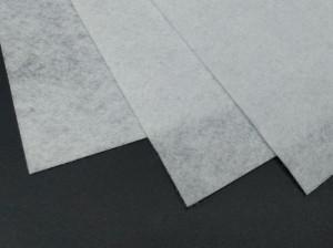 Фетр Средне жесткий 0,9 мм А4 20х30мм Бело серый