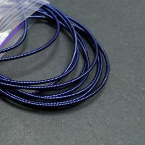 Канитель жесткая 1мм Темно синяя 1 метр