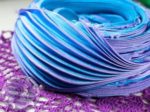 Шелковая Лента Шибори (Shibori silk ribbon) L209