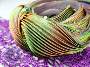 Шелковая Лента Шибори (Shibori silk ribbon) L210