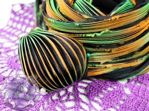 Шелковая Лента Шибори (Shibori silk ribbon) L211