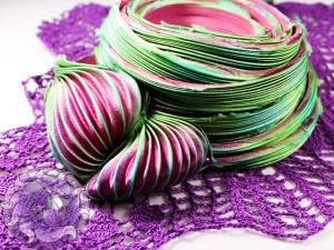 Шелковая Лента Шибори (Shibori silk ribbon) L217
