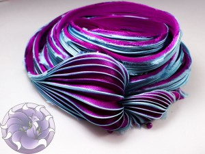 Шелковая Лента Шибори (Shibori silk ribbon) L218