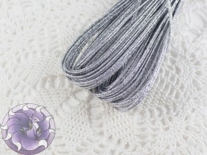 Сутажный шнур Беларусь люрекс 3,5мм цвет серебро