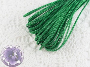 Сутажный шнур Белоруссия люрекс 1.9мм цвет зеленый