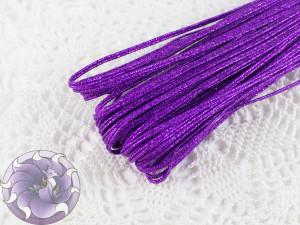Сутажный шнур Белоруссия люрекс 1.9мм цвет фиолетовый