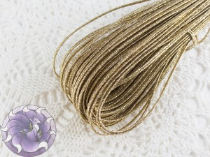 Сутажный шнур Белоруссия люрекс 3.5мм цвет золото