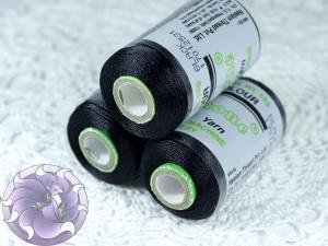 Нитки вискоза для кистей 120D/2 700м цвет Черные