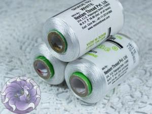 Нитки вискоза для кистей 120D/2 700м цвет Белые