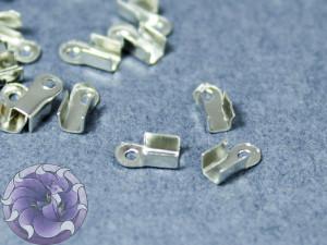 Концевики зажимы для цепочек со стразами 2мм Цвет сталь