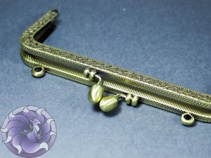Фермуар пришивной прямоугольный 85x150x12мм Цвет Античная бронза