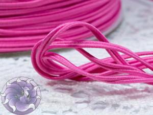 Сутажный шнур Япония матовый 3мм цвет Восхитительная роза