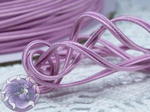 Сутажный шнур Япония матовый 3мм цвет Розовая лаванда