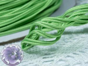 Сутажный шнур Япония матовый 3мм цвет Зелёный Нил