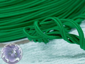 Сутажный шнур Япония матовый 3мм цвет Зелёный Аркадия