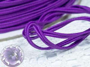 Сутажный шнур Япония матовый 3мм цвет Фиолетовый