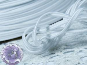 Сутажный шнур Япония матовый 3мм цвет Белый