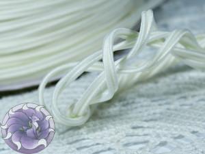 Сутажный шнур Япония матовый 3мм цвет Молочный