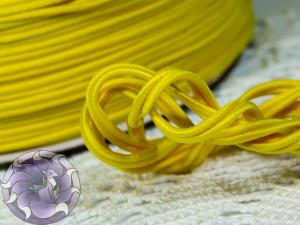 Сутажный шнур Япония матовый 3мм цвет Жёлтый Жаворонок