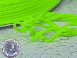 Сутажный шнур Япония матовый 3мм цвет Лайм-неон