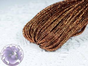 Сутажный шнур Турция люрекс 2.5мм цвет Медный