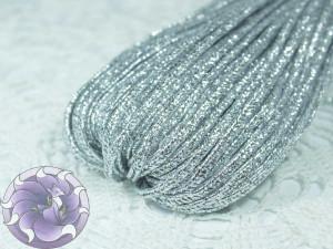 Сутажный шнур Турция люрекс 2.5мм цвет Серебро