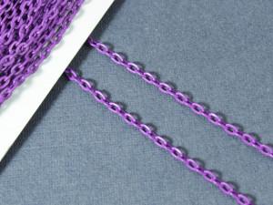 Цепь железная 3,7*2,5мм, цвет Фиолетовый