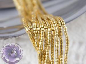 Бисер богемский Preciosa 3 cut 12/0 на нитке GOLD