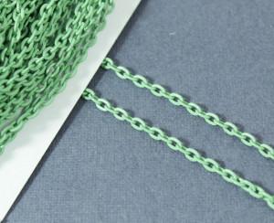 Цепь железная 3,7*2,5мм, цвет Зеленый