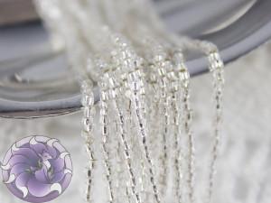 Бисер богемский Preciosa 3 cut 12/0 на нитке Silver lines crystal