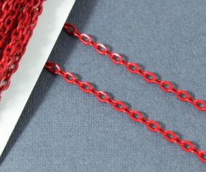 Цепь железная 3,7*2,5мм, цвет Красный