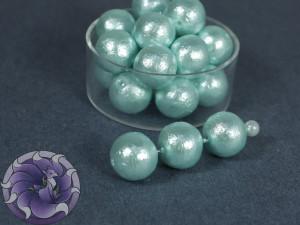 Хлопковый жемчуг Cotton Pearls 10mm Голубой Aqua Japan