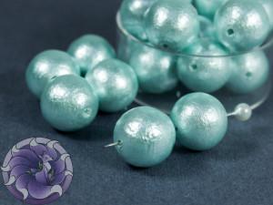 Хлопковый жемчуг Cotton Pearls 12mm Голубой Aqua Japan