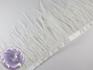 Лента из перьев страуса 8-10 см Цвет Белый