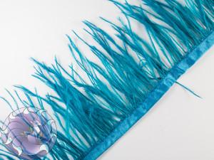 Лента из перьев страуса 8-10см цвет Бирюзовая